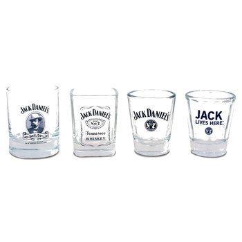 Set/4 Glass Jack Daniels Shot Glass