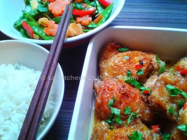 Poulet à la citronnelle (gà nướng sả) - La kitchenette de Miss Tâm