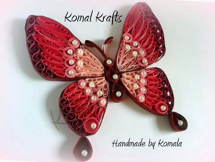 200 best quilling butterflies images on pinterest for Quilling strips designs