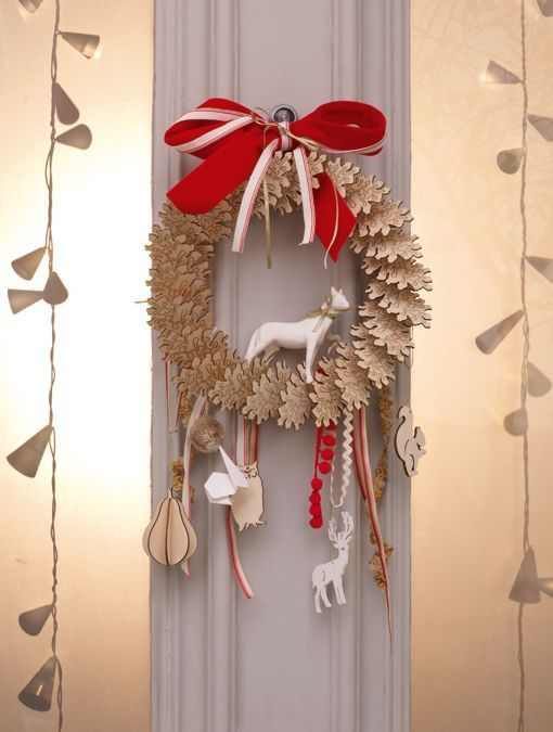 Neat... you can make a beautiful wreath out of things you find around the house.