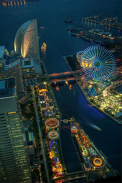 Aller dans une fête foraine Japonaise  November (Festivals) and April (Cherry Blossoms) are some of the best months to travel to Japan. Pictured is Yokohama, Japan