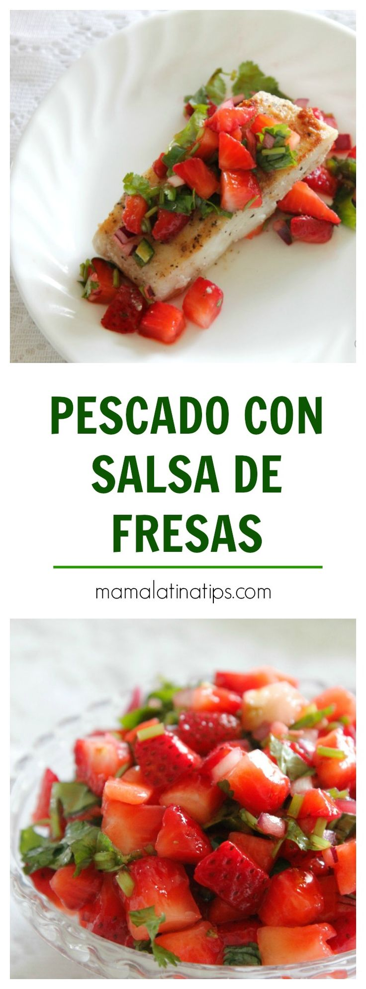 This pan seared cod with strawberry salsa was inspired by the fragrant fields of coastal California strawberries. Recipe, step by step instructions and photos included. Cod Recipes, Fish Recipes, Cooking Recipes, Strawberry Salsa, Fruit Salsa, Tilapia, Peppers And Onions, Salad, Stuffed Peppers