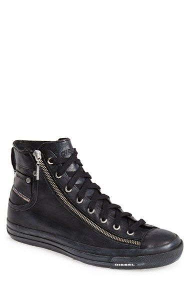 DIESEL® 'Expo-Zip' High Top Sneaker (Men) available at #Nordstrom