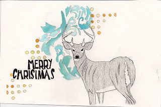 watercolour ink christmas - Google Search