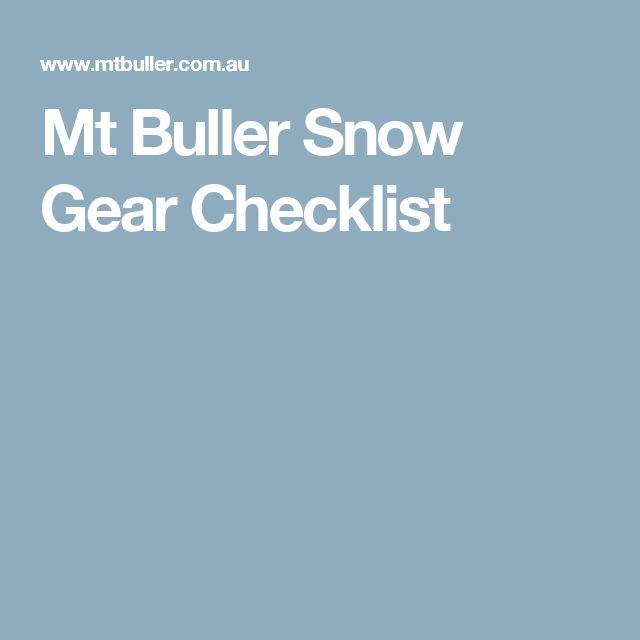 Mt Buller Snow Gear Checklist