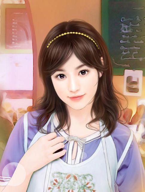 chinese art - 绘现代美女 #194