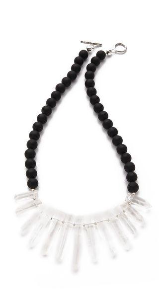 La Vie Bobo Medium Matte Quartz Necklace
