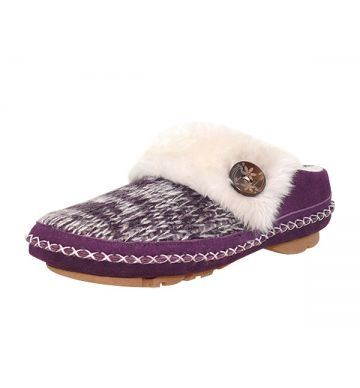 Womens Collection :: Foamtreads Everyday :: Anabella - Women's Navy Knit Slipper - Foamtreads - Canada's Premier Slipper brand for Men, Women, and Children