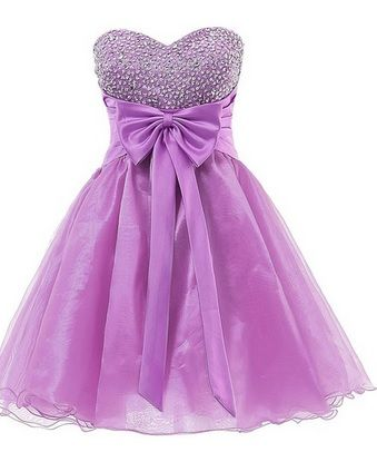 Cute Teen Formal Dresses | Very Cute Organza Short Prom Cocktail Party Dress for Teen Girls!