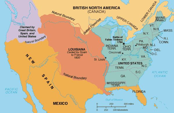 North America In The New Country That Is The United States - Louisiana in usa map
