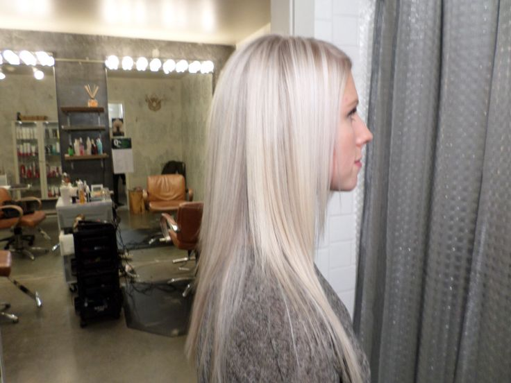 Icy Blonde created by Heather Tufton @ Rock Paper Scissors salon PDX using Blondme