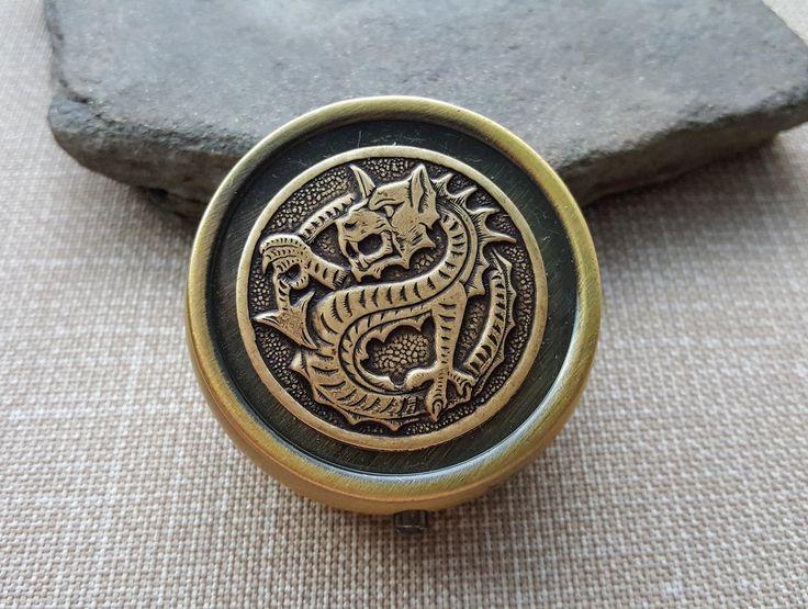 Handmade Bronze Dragon Pill Box