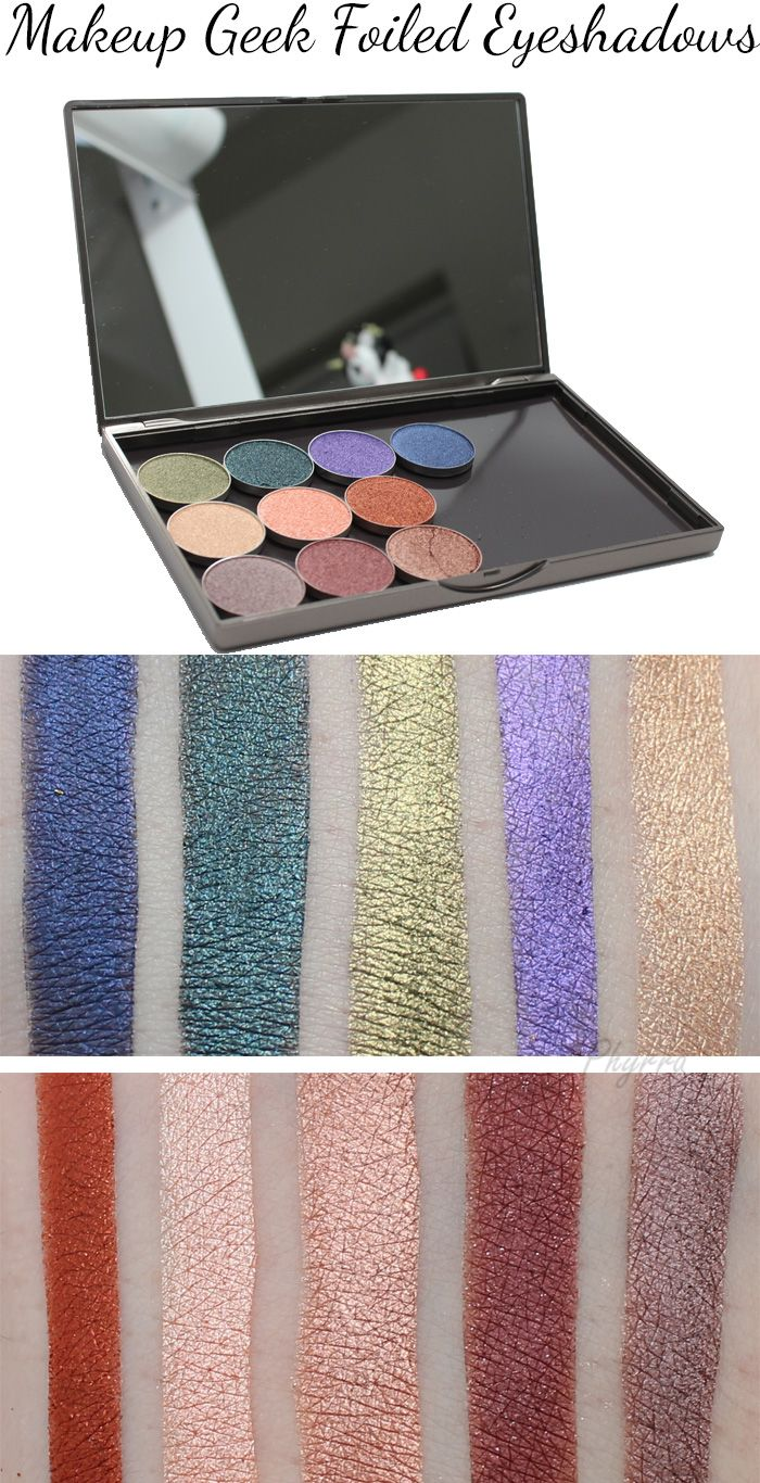 Makeup Geek Foiled Eyeshadows Review, Swatches, Tutorial, Look and Video. These are gorgeous!