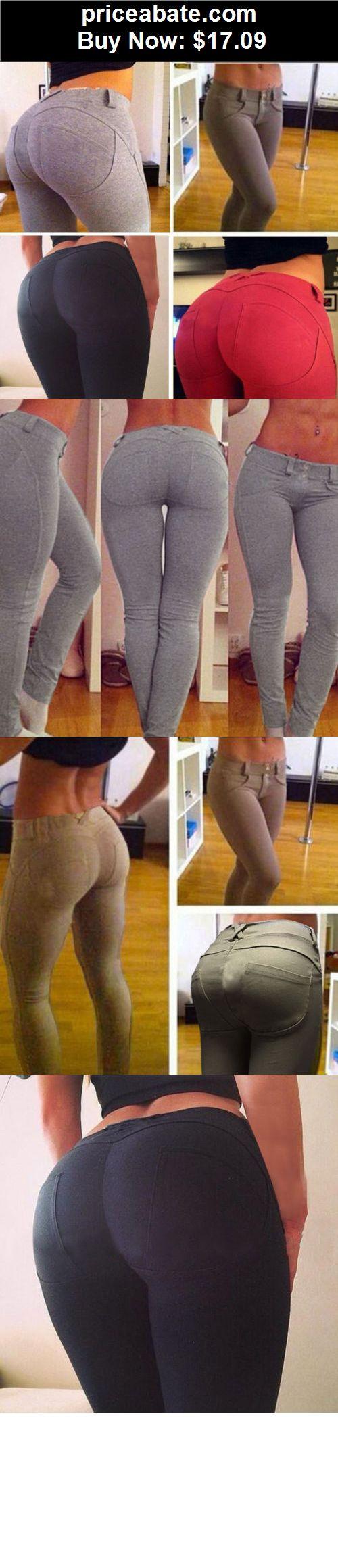 Women-Leggings: Hot Sexy Women Jeggings Stretch Cotton Jeans Leggings Butt Lift Skinny Leg Pants - BUY IT NOW ONLY $17.09