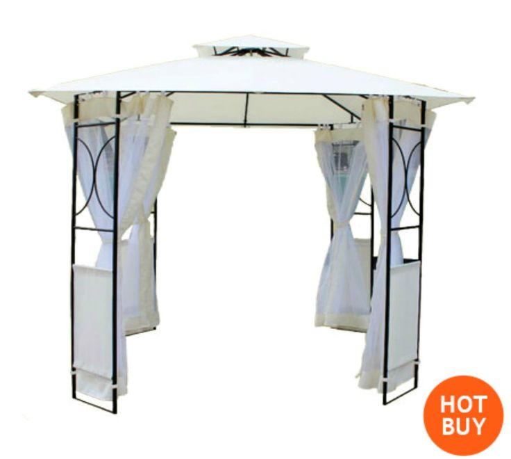 Party Marquee Gazebo Waterproof Curtains Event Canopy Patio Metal Frame Steel