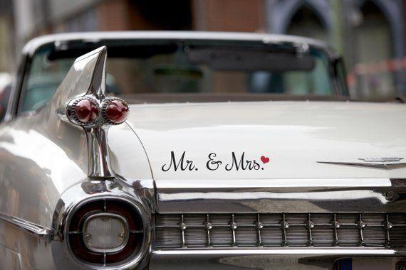 Autoaufkleber Hochzeit Mr Mrs Sticker Toy Car Wedding Car Mr And Mrs Wedding