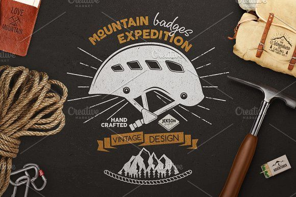 Mountain Expedition Badges by JeksonGraphics on @creativemarket