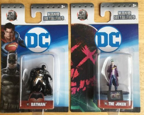 2 DC Comics Nano MetalFigs BATMAN and THE JOKER Die-Cast Metal Figures 2017 #DCComics