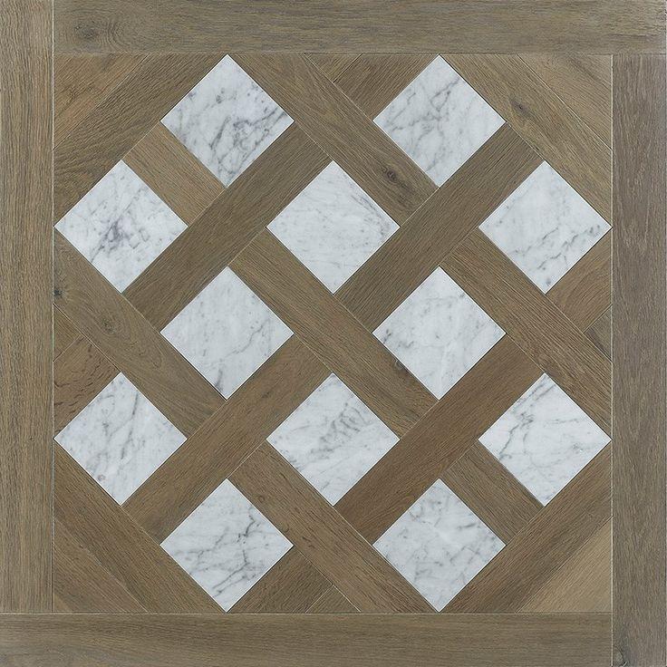 Prémices : Dalle Versailles Chêne Sofia et marbre carrare #parquet #art #interiordesign #interiorarchitecture #wood #woodfloor #paris #carresol #dalledeversailles #marbre