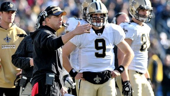 Sean Payton (Coach) and Drew Brees QB of the Saints