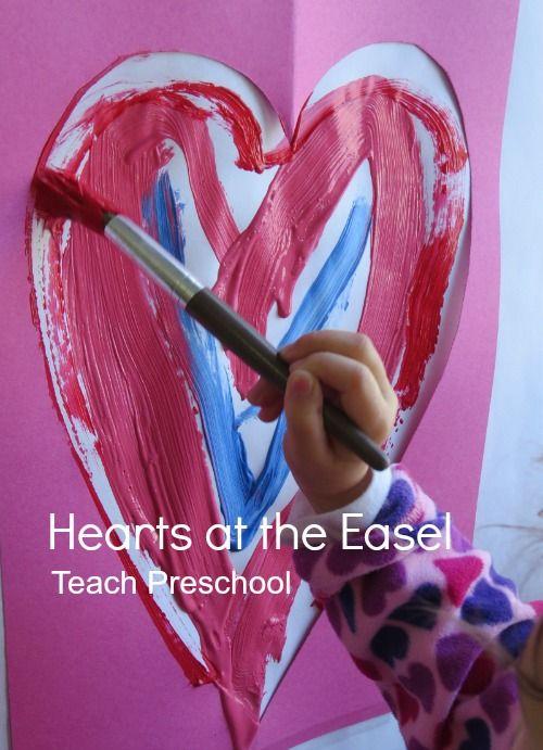 So smart!! Great trick for helping kids make hearts from @Deborah @ Teach Preschool.
