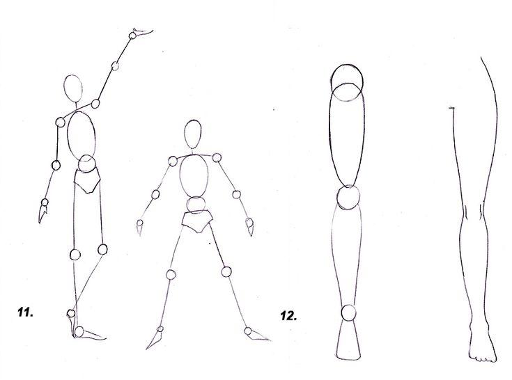 Как рисовать аниме: рисуем человека