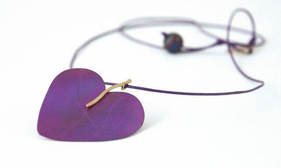 Handmade Valentine's heart titanium necklace by anypearljewelry, $69.00