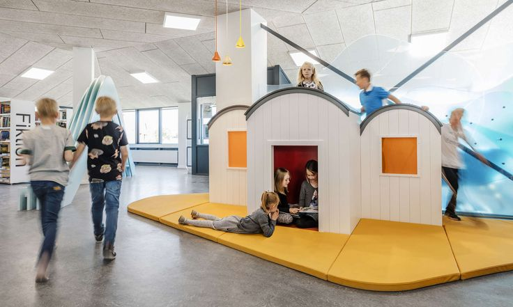 In the small seaside town Løkken children and adults splash around in waves of play and creativity after the local library opened its doors to a new innovati...