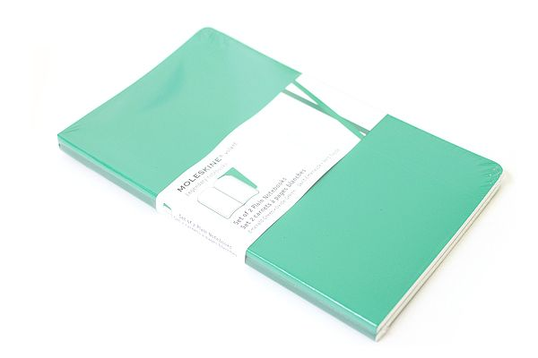 moleskine volant in emerald, set of 2 plain page notebooks $12.95