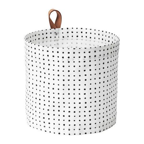 IKEA - PLUMSA, Förvaringskorg, Den plastade insidan skyddar mot väta.