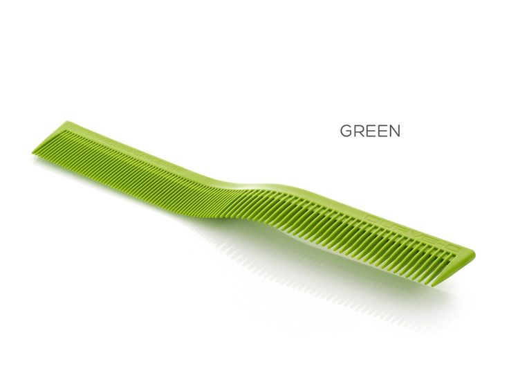 Curve-O Advanced Cutting Comb 'Tribe Colors' Green.