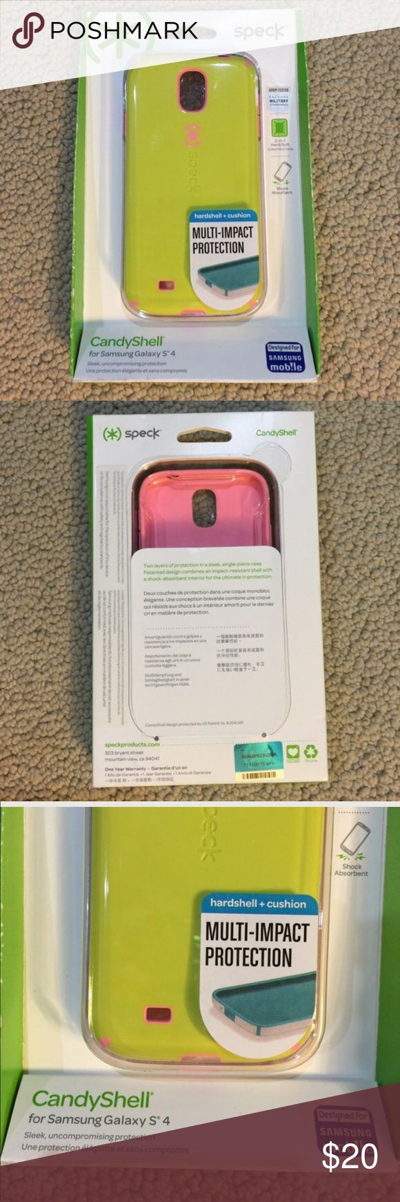 SPECK Samsung Galaxy S4 pink &green candy shell New never opened ,hard case , multi impact protection samsung Accessories Phone Cases