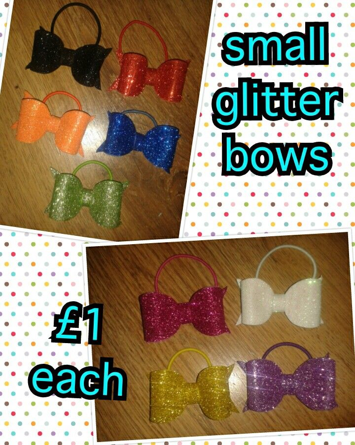 Cute iccle glitter bows