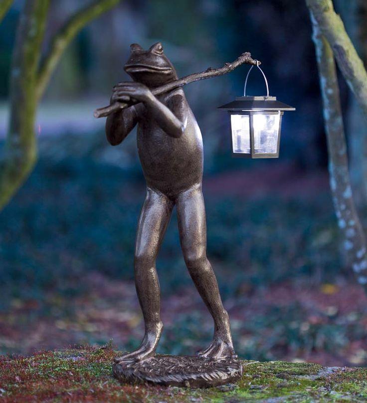 Frog Garden Statue With Solar Lantern