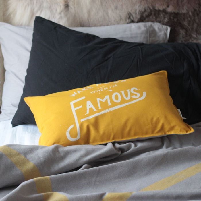 Pony Rider — Famous Cushion | yellow | Wake me When I'm Famous