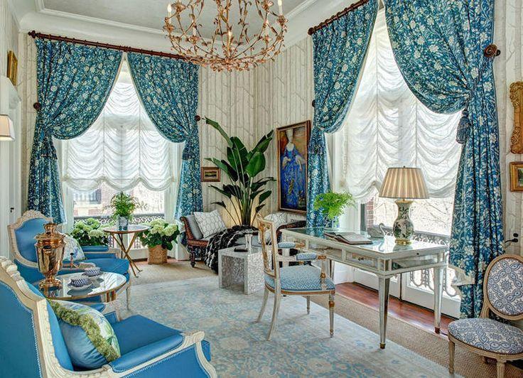 Французские шторы для гостиной: идеи с фото