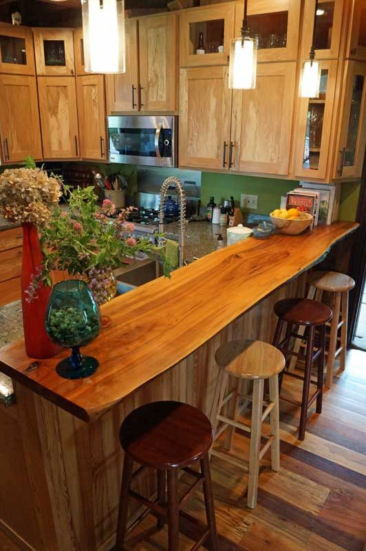 Wood Breakfast Bar Countertops | o2 Pilates