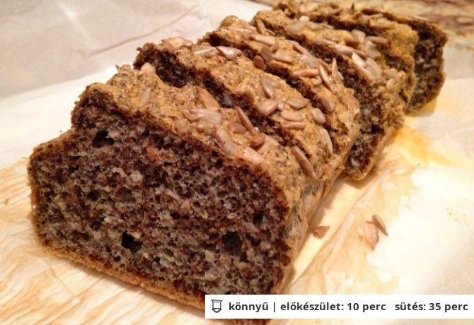 Szezámos-lenmagos PALEO kenyér EHHEZ VAN ITTHON MINDEN!!!