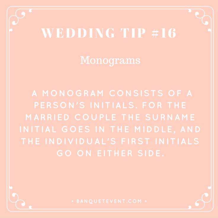 Wedding Tip Monograms
