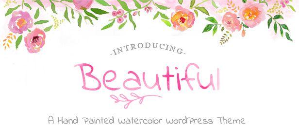 Beautiful WaterColor WordPress - Premium WordPress theme