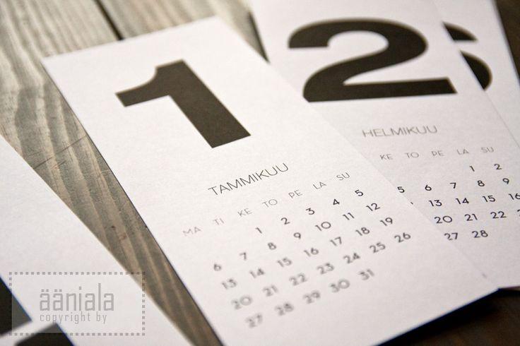 DIY Printable calendar 2014 (Finnish version)