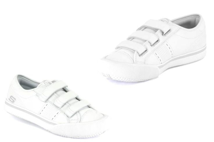 Skechers - Strand Solie - White Leather UppersRubber Toe Cap3 Fastening Straps  Click here for our Size Info Click here for our Delivery Info Click here for our Returns Info Bookmark or Share this p http://www.comparestoreprices.co.uk/shoes/skechers--strand-solie--white.asp