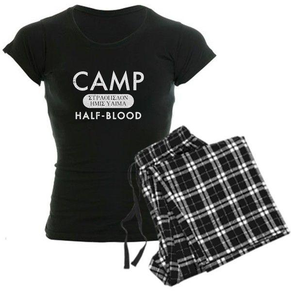 Camp Half Blood Pajamas ($49) ❤ liked on Polyvore featuring intimates, sleepwear, pajamas, percy jackson and demigod