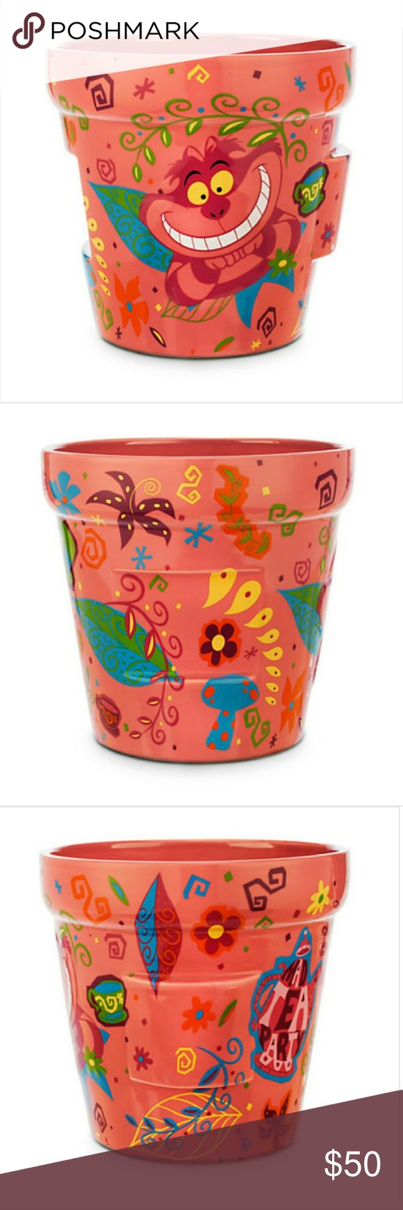 Disney Store Alice in Wonderland Large Flower Pot Brand new in original foam and packaging from the Disney store online. Ships from a smoke free and pet free home. Disney Other