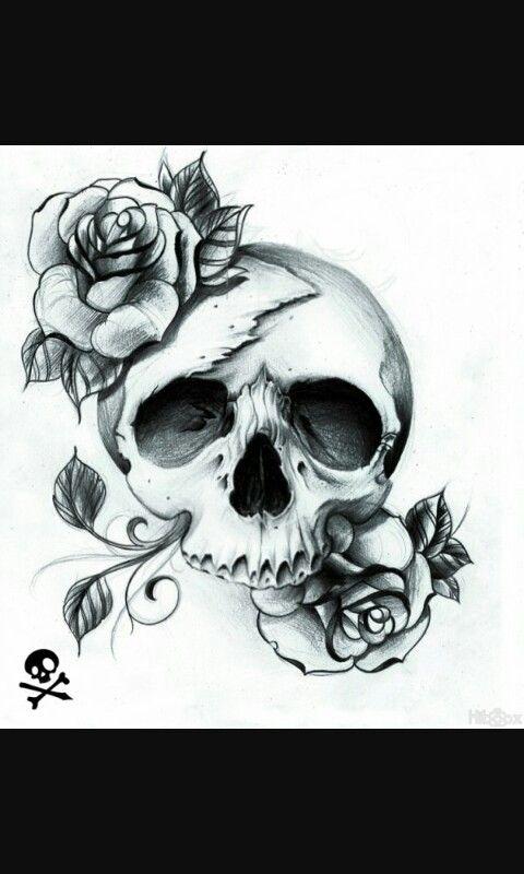 Les 51 meilleures images propos de crane sur pinterest motifs de t te de mort tatoueur et - Dessiner une tete de mort ...