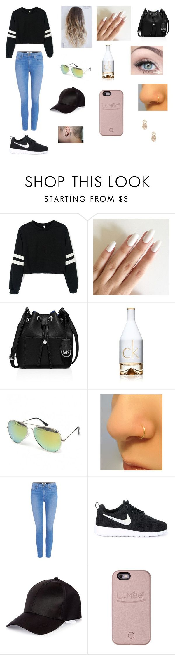 Untitled #226 by katrine-frid on Polyvore featuring Paige Denim, NIKE, MICHAEL Michael Kors, Sole Society, River Island and Calvin Klein