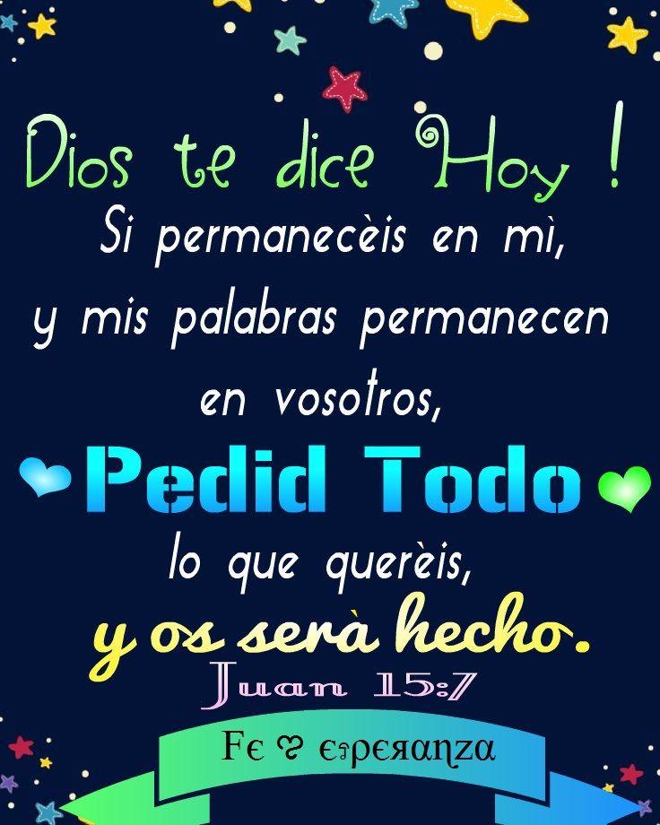 Dios te dice Hoy !