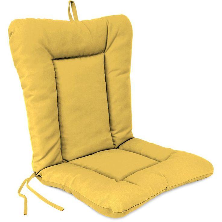 Jordan Manufacturing Euro Style Chair Cushion In Spectrum Daffodil  (Spectrum Daffodil), Yellow (