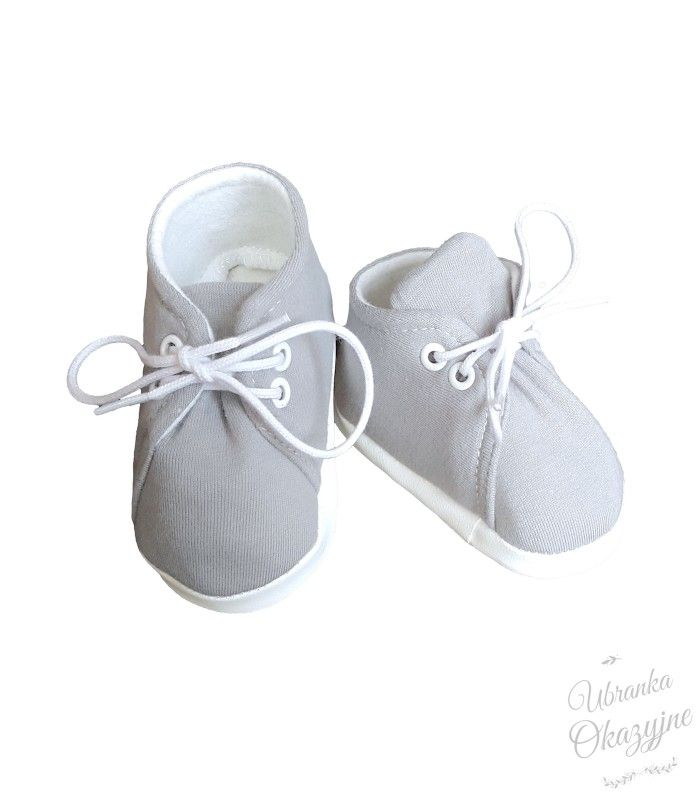 Buciki Dla Niemowlat Do Chrztu Bawelniane Szare Ubranka Okazyjne Baby Shoes Fashion Clothes