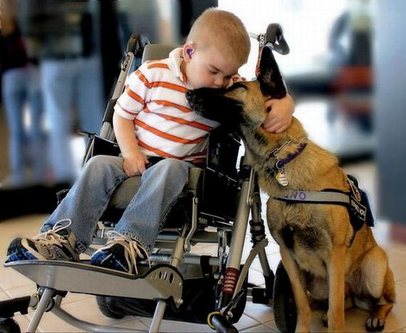 Lucas with Juno, a service God...I mean Dog. Sooooo sweet. :o)